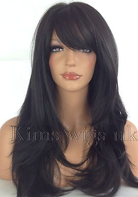 ABI: BLACK/DARK BROWN HEAT RESISTANT WIG