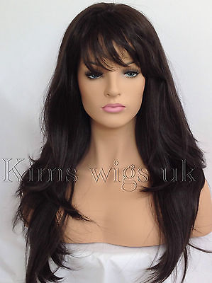 ABI: DARK BROWN HEAT RESISTANT WIG