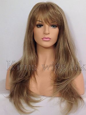 ABI: LIGHT BROWN/BLONDE MIX HEAT RESISTANT WIG