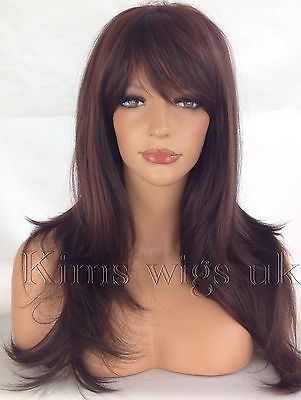 ABI: TWO TONE DARK RED HEAT RESISTANT WIG