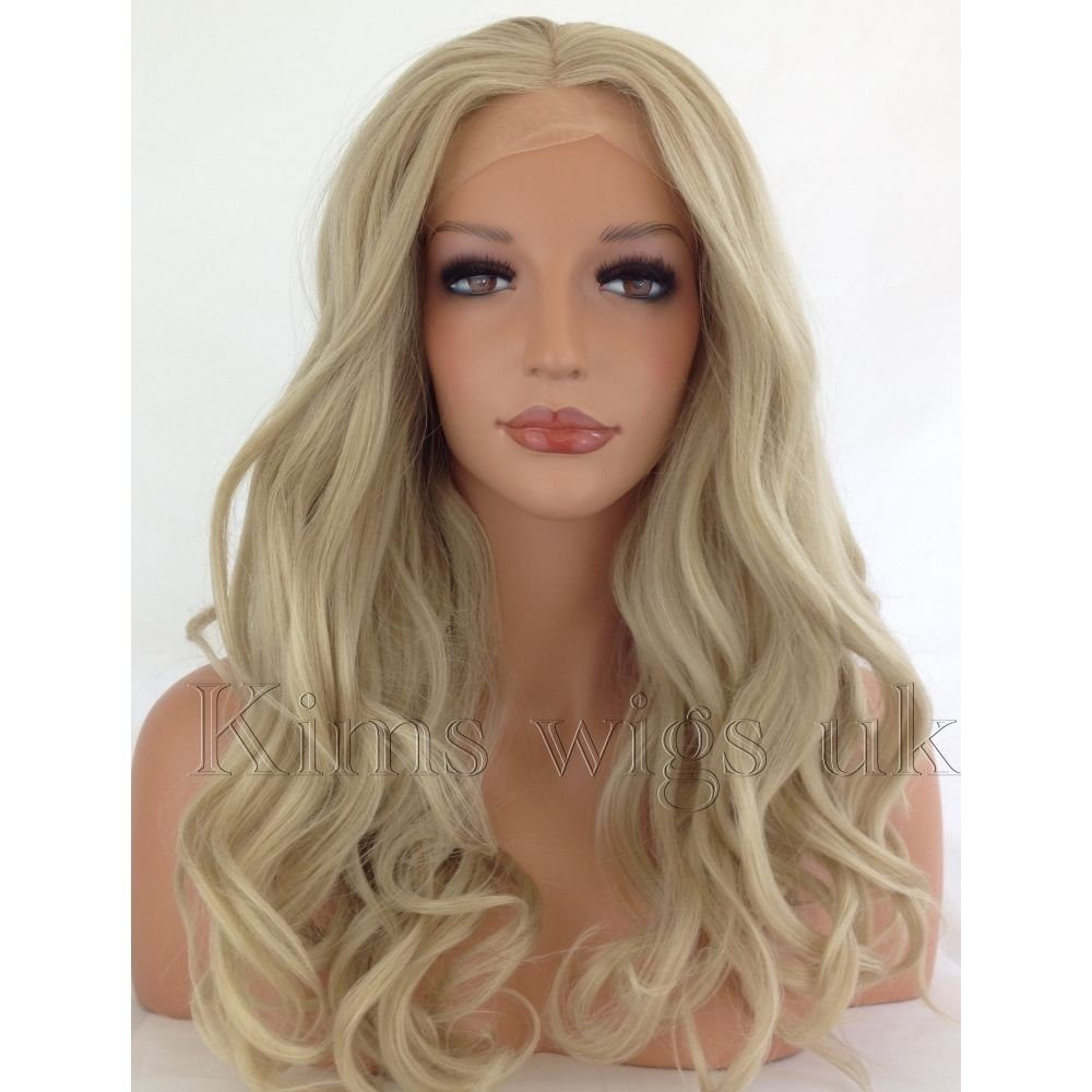 BRITAIN: LIGHT BLONDE LACE FRONT WIG  KW03
