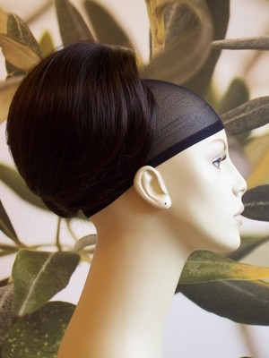 "DARK BROWN "" BEEHIVE "" BUN HAIR PIECE #4"