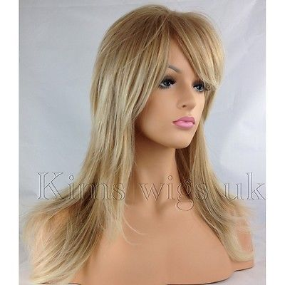 GABRIELLA:TWO TONE BLONDE FLICK & LAYERED WIG