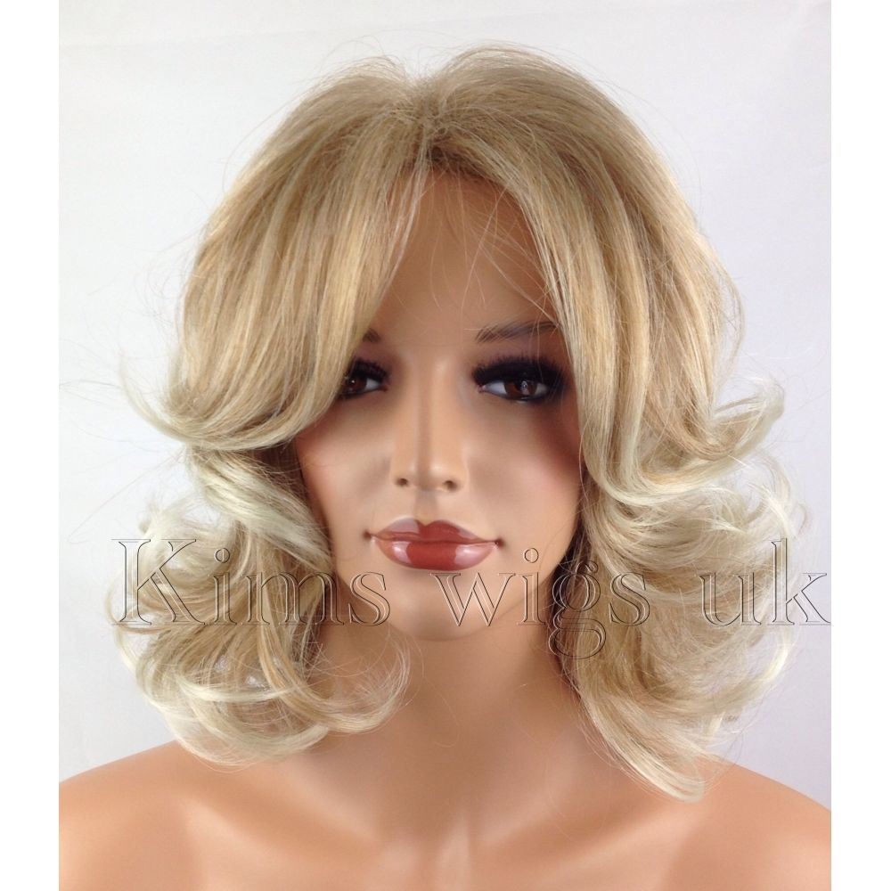 KATY: TWO TONE BLONDE SHOULDER LENGTH WIG