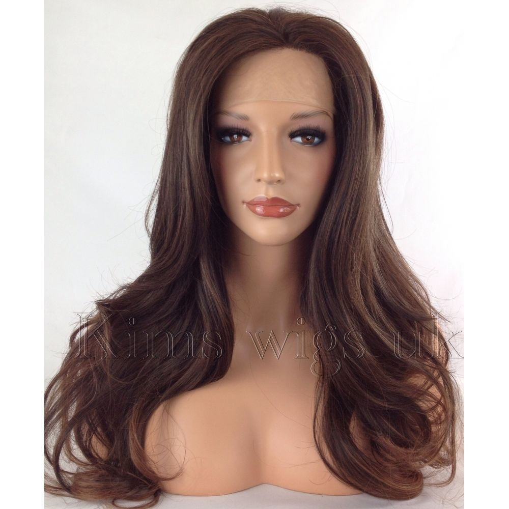PARIS: BEAUTIFUL BROWN MIX LACE FRONT WIG KW34