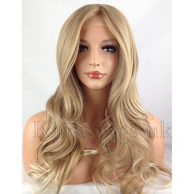 paris blonde tipped lace front wig kw34. Black Bedroom Furniture Sets. Home Design Ideas