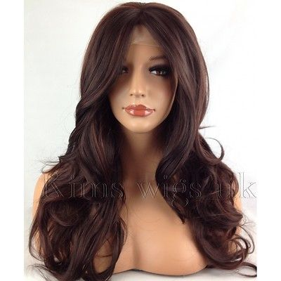 PARIS: TWO TONE DARK RED LACE FRONT  WIG KW34